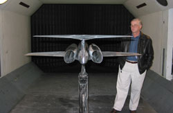 Aerion Plane in Wind Tunnel