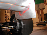 Rear Wing Wind Tunnel Images